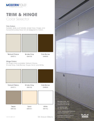 Trim and Hinge Color Selector