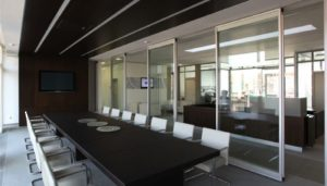 Modernfold Acoustical Glass Walls
