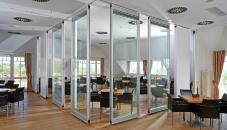 ACOUSTI-CLEAR® Motorized Partitions