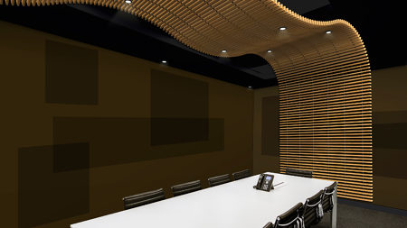 Acoustic Panels with Wood Battens